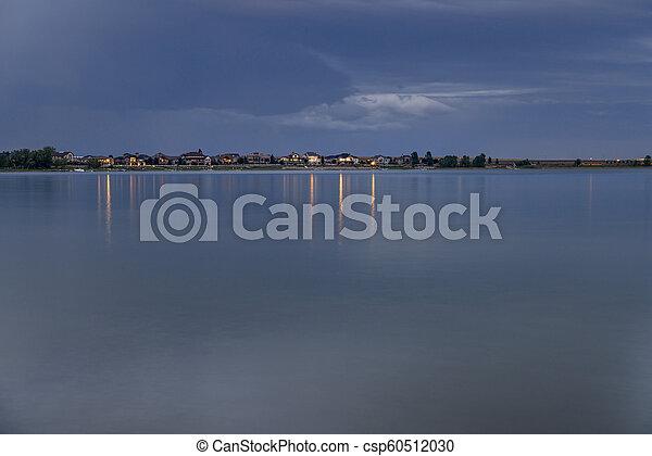 night over a calm lake in Colorado - csp60512030