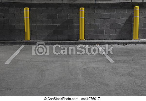 Night Parking Garage - csp10760171