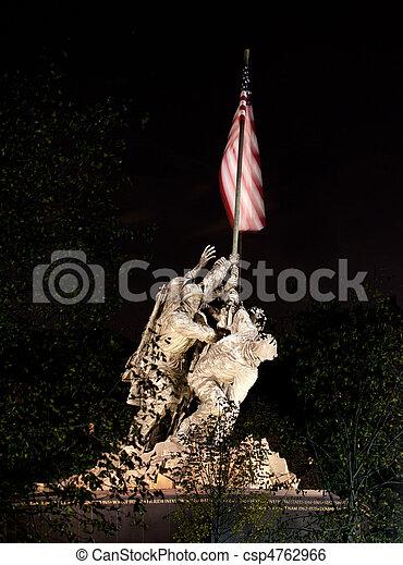 Night shot of Iwo Jima - csp4762966