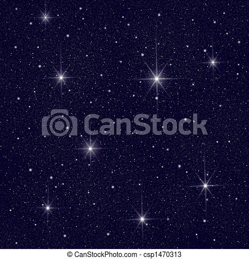 night sky with lots of stars