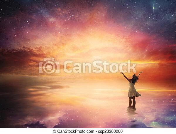 Night sky praise - csp23380200