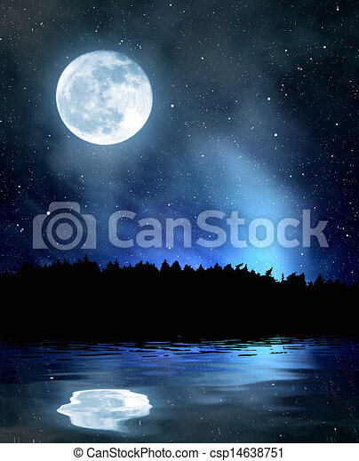 night sky with stars and moon night sky with stars and the moon