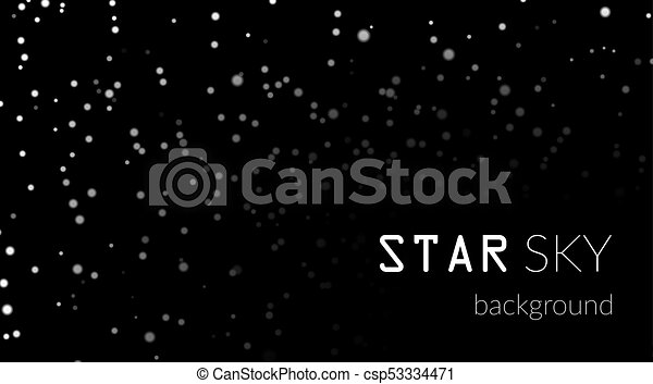 Night Sky With White Stars On Black Background Dark Astronomy Space Template Galaxy Starry Pattern