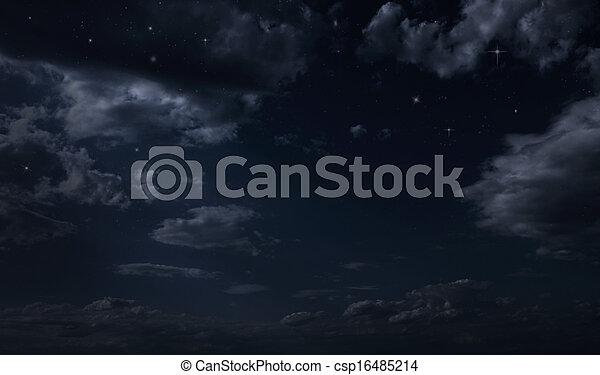 Night starry sky - csp16485214