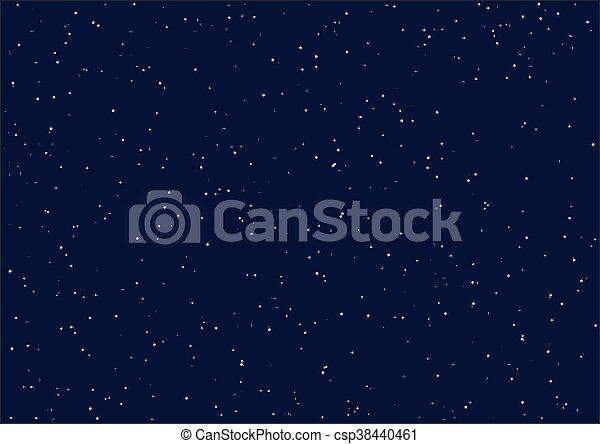 Night starry sky. Seamless - csp38440461