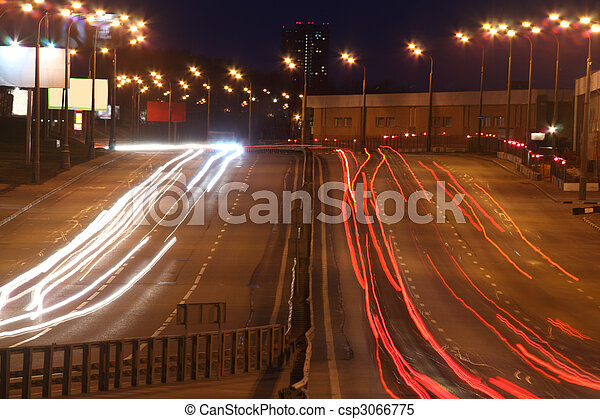 Night street - csp3066775