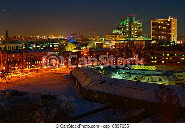 night., tallinn, estónia - csp16837655