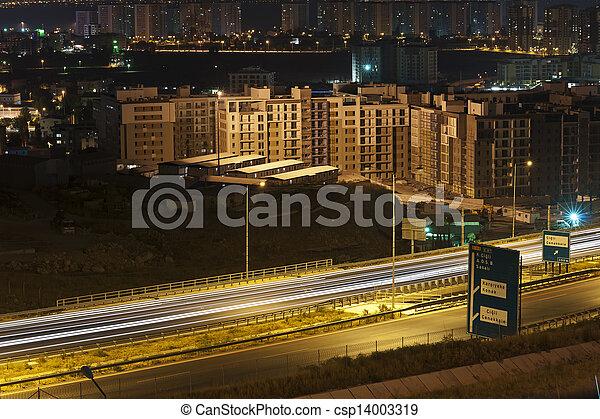night traffic - csp14003319