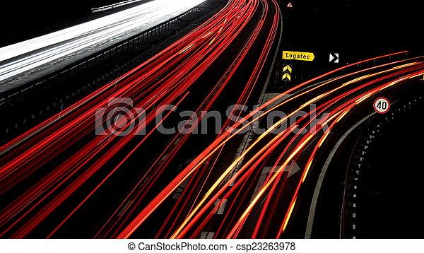 Night traffic - csp23263978