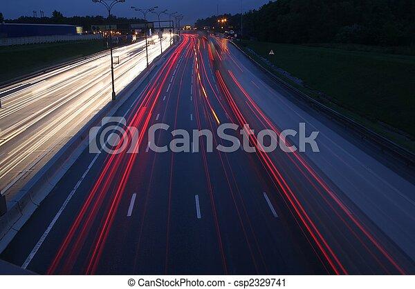 night traffic - csp2329741