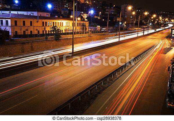 Night traffic - csp28938378