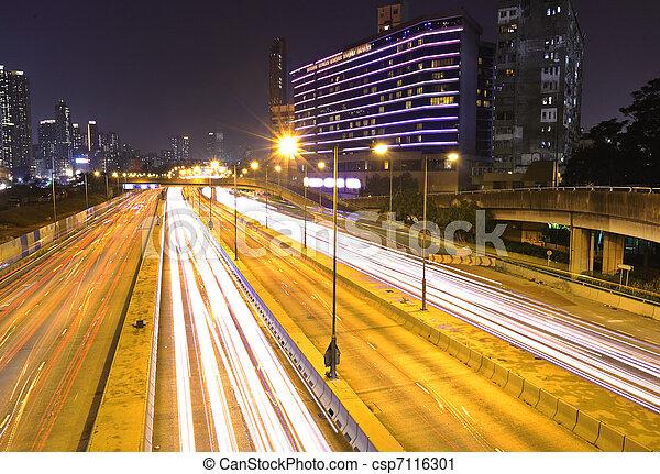 night traffic - csp7116301