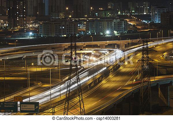 night traffic - csp14003281