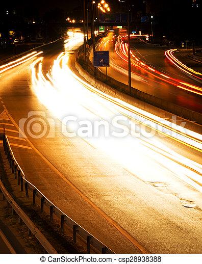 Night traffic - csp28938388