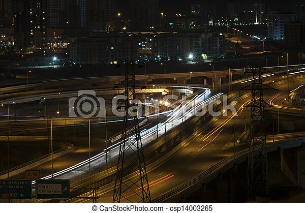 night traffic - csp14003265