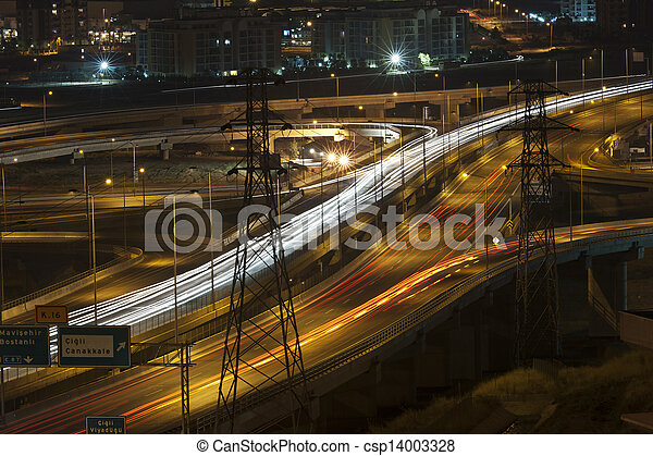 night traffic - csp14003328