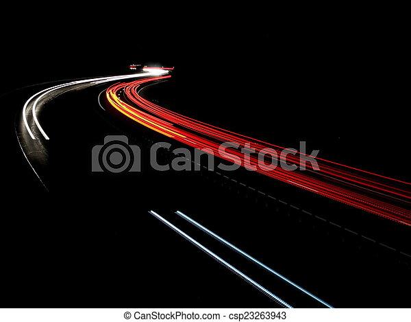 Night traffic - csp23263943