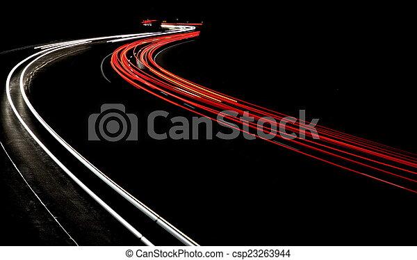 Night traffic - csp23263944