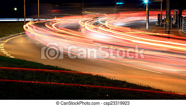 Night traffic - csp23319923