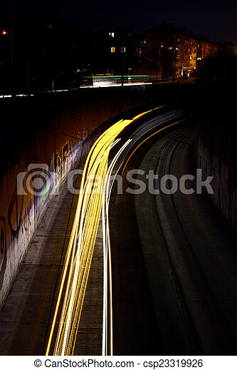 Night traffic - csp23319926
