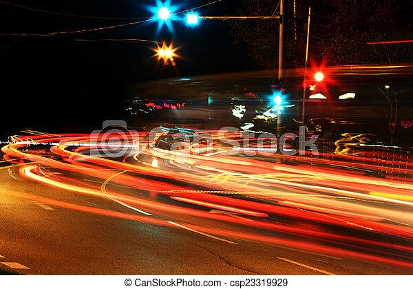 Night traffic - csp23319929