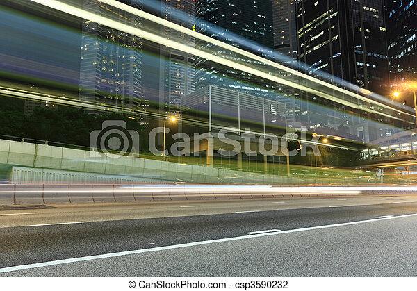 night traffic - csp3590232