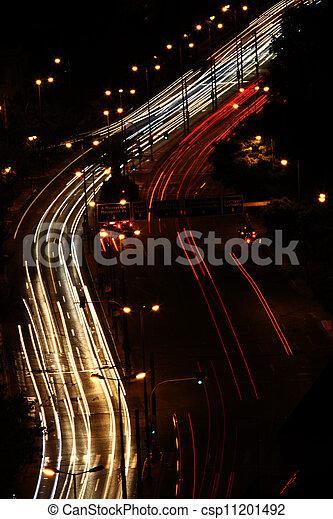 Night traffic - csp11201492