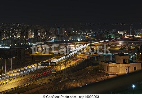 night traffic - csp14003293