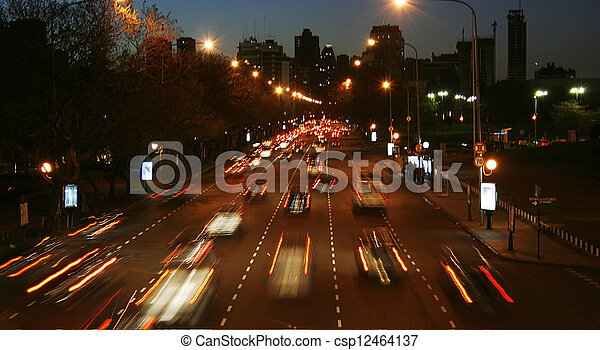 night traffic - csp12464137