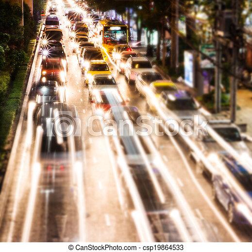 Night traffic - csp19864533