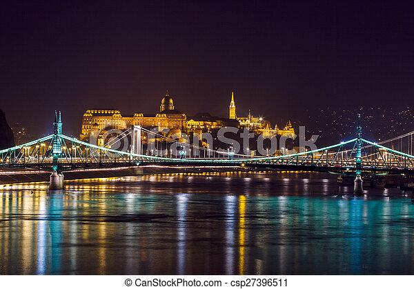 Night view of Budapest - csp27396511