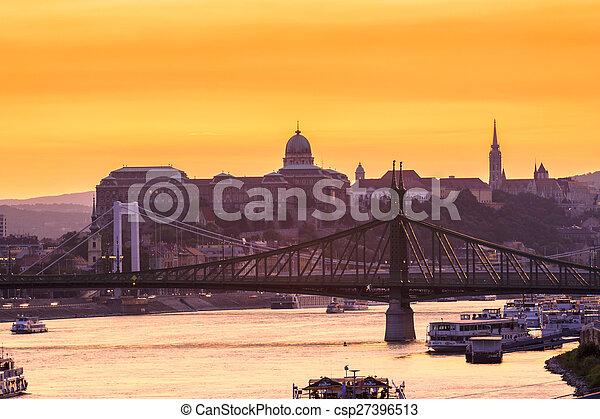 Night view of Budapest - csp27396513