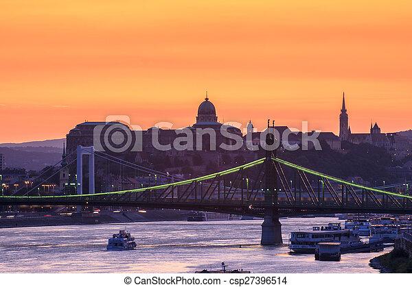 Night view of Budapest - csp27396514