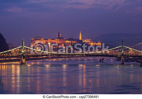 Night view of Budapest - csp27396491