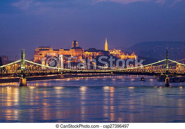 Night view of Budapest - csp27396497