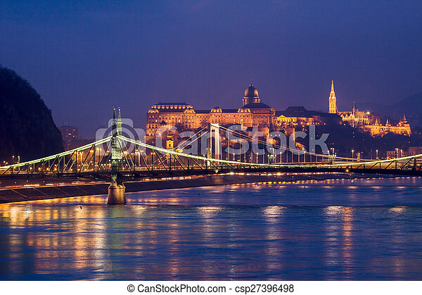 Night view of Budapest - csp27396498