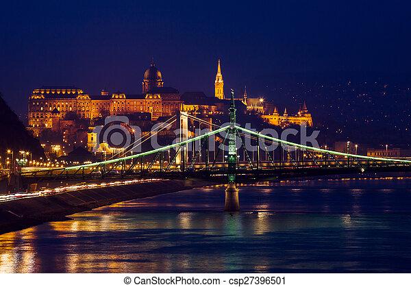 Night view of Budapest - csp27396501