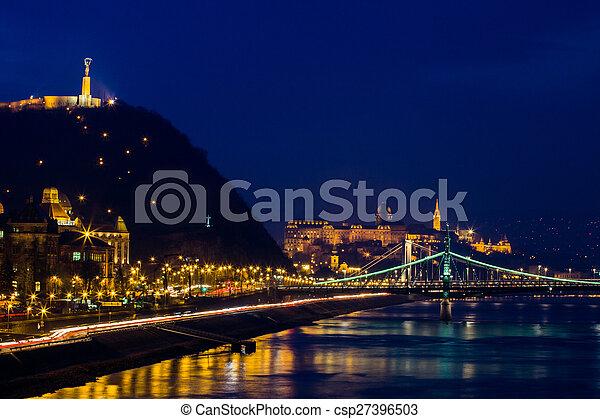 Night view of Budapest - csp27396503