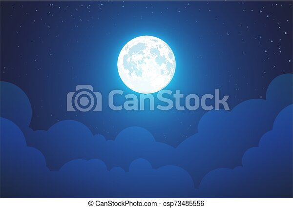 Moon And Starry Night Sky Minimalist Style Background, Moon, Night, Star  Background Image for Free Download