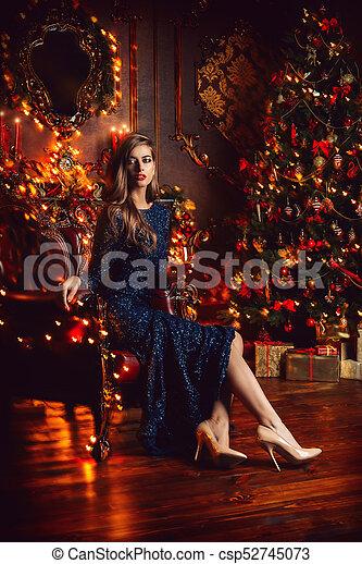 Christmas Evening Party.Night Xmas Party