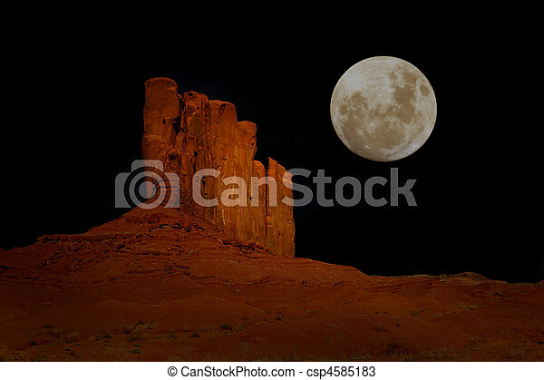 Nighttime in Monument Valley Arizona - csp4585183