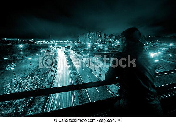Nigth urban scene  - csp5594770