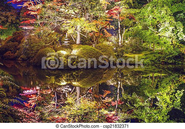 Nikko, Japan Autumn Garden - csp21832371