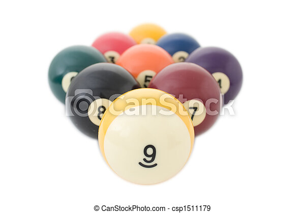 Nine billiard balls - csp1511179