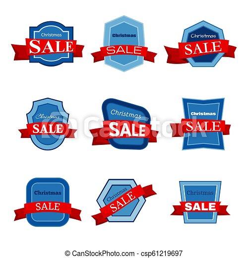 Nine colorful Christmas Sale badges - csp61219697