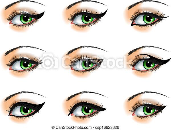 Nine  different eyeliners set - csp16623828