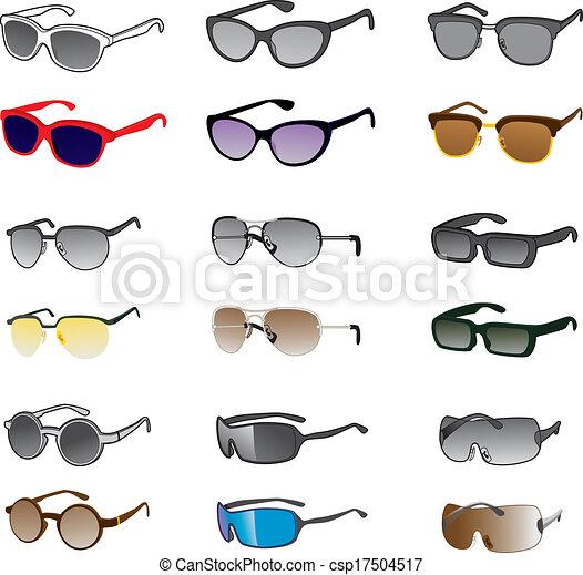 Nine Sunglasses Styles - csp17504517