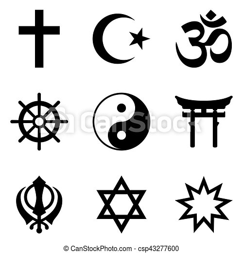 Nine Symbols Of World Religions And Major Religious Groups
