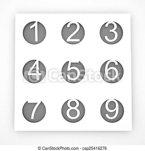 nine., une - csp25416276