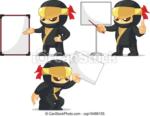 Una mascota ninja - csp16486155